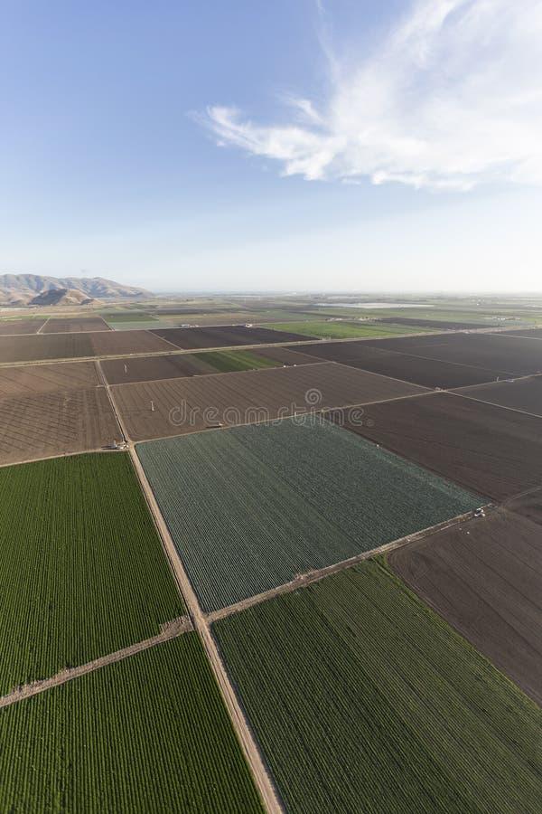 Ventura okręgu administracyjnego Kalifornia Rolni pola Powietrzni obrazy stock