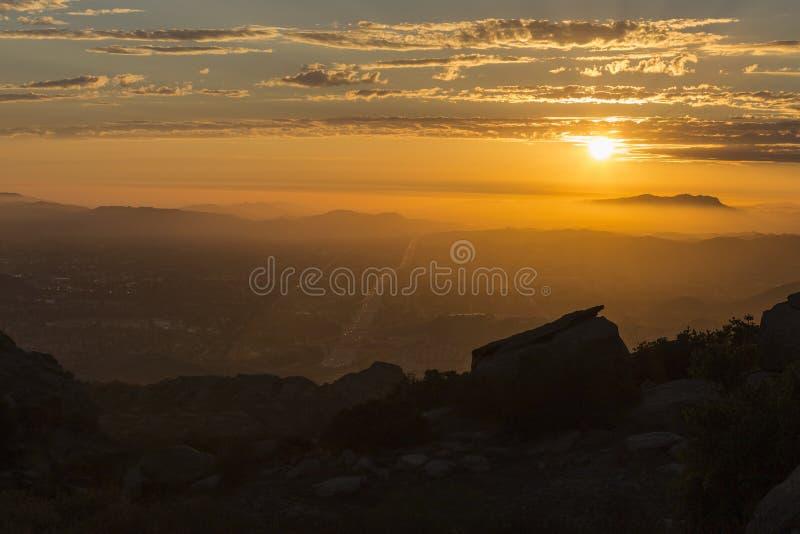 Ventura okręgu administracyjnego Kalifornia zmierzch zdjęcia royalty free