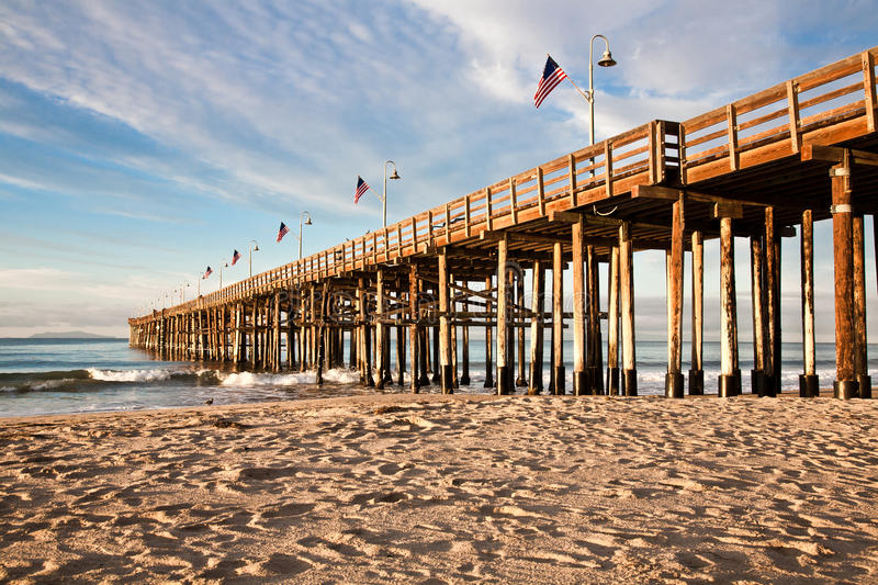 Ventura Pier stock image. Image of landmark, beach, ocean ...