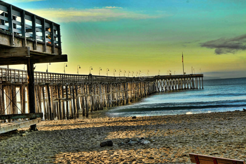Ventura Pier imagem de stock