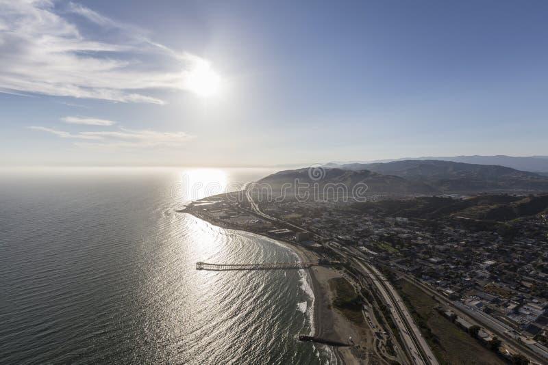Ventura Pier Southern California Aerial stockfotografie