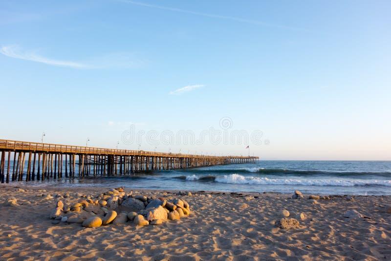 Ventura Wooden Pier imagem de stock royalty free