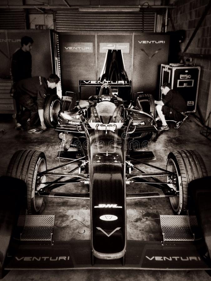 Venturi-Formulee auto stock afbeeldingen