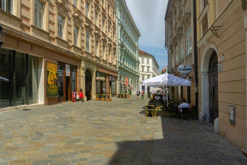 Venturska ulica street at Bratislava stock photo