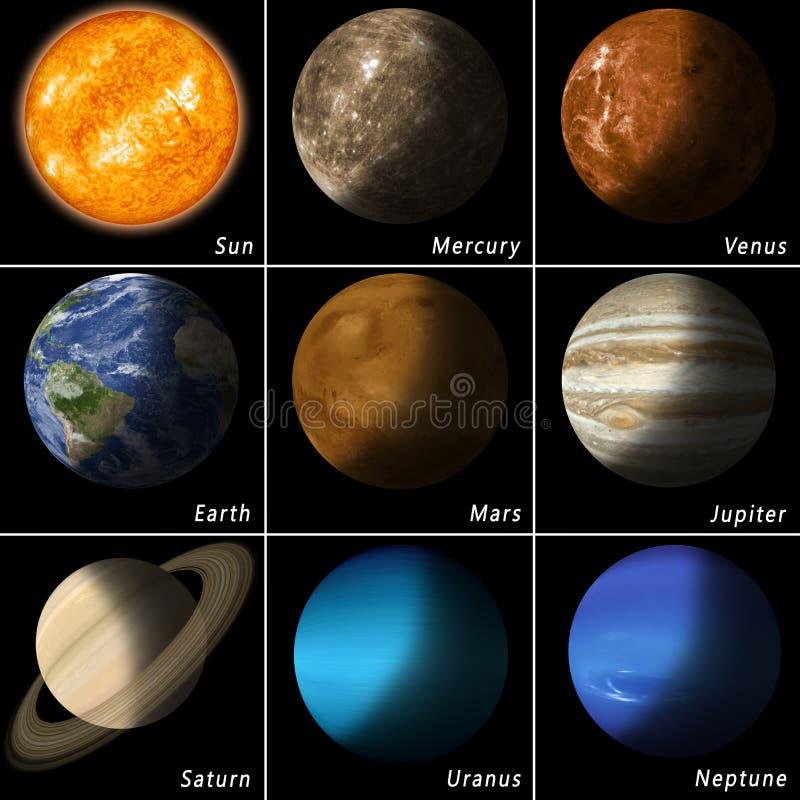 venus солнечной системы путя ртути фокуса земли клиппирования иллюстрация вектора