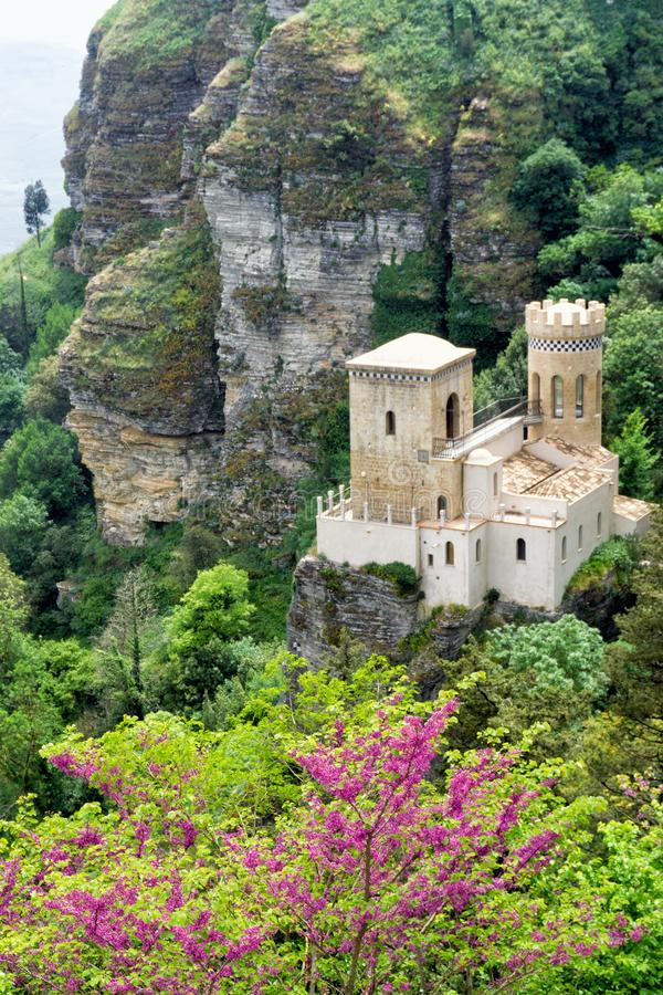 Venus Castle in Erice, Italy. View of part of the Norman Castle also known as the Venus Castle in Erice, Italy royalty free stock image