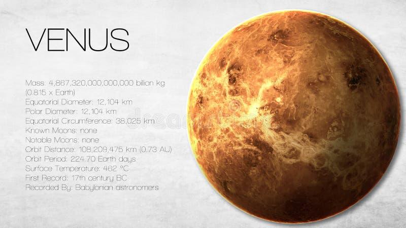 Venus - de Hoge resolutie Infographic stelt voor stock foto