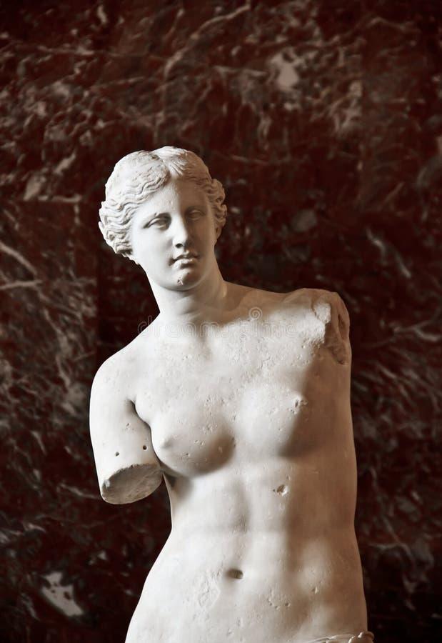 Venus de Milo 1. The famous sculture Venus de Milo in the Louvre Museum, Paris, France on April 16, 2012. The sculture created sometime between 130 and 100 BC stock photography