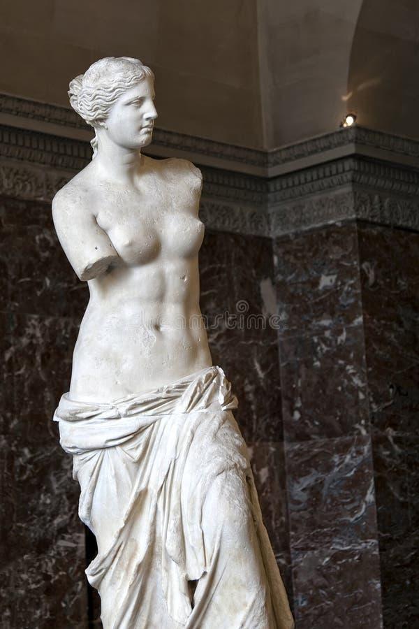 Venus de Milo, en Louvre, París fotografía de archivo