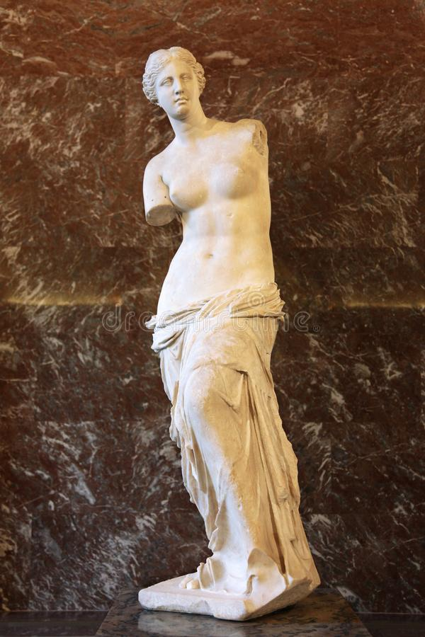 Venus de Milo no Louvre 30 11 2011 Paris, France fotografia de stock