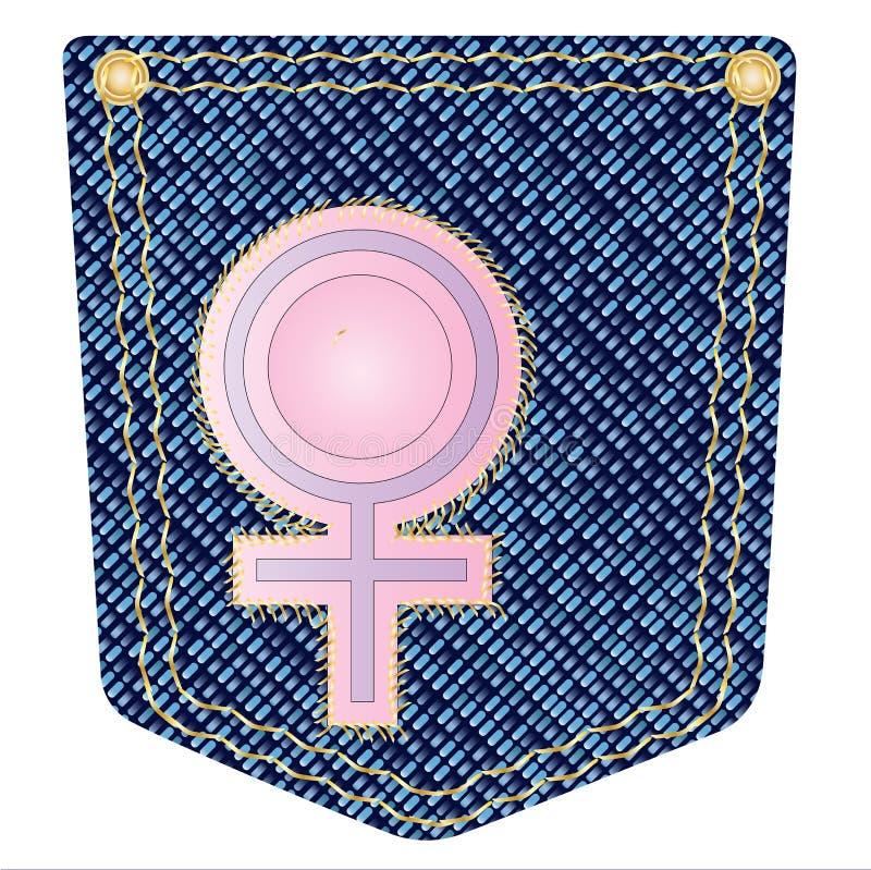 Venus Denim Pocket ilustração do vetor