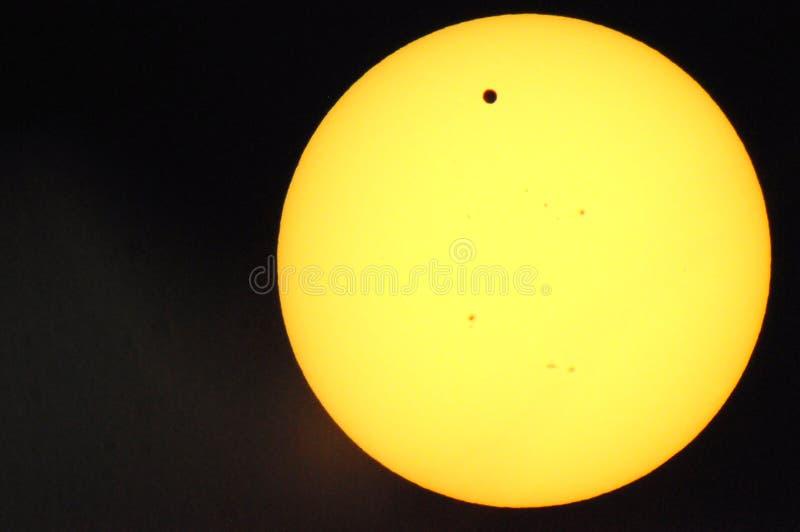 Venus-Durchfahrt stockfotografie