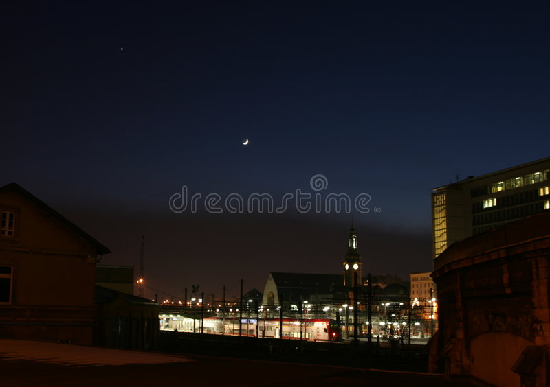 Venus et lune photos stock