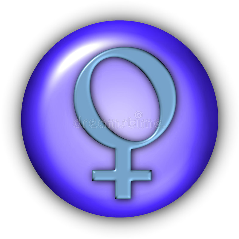 Venus Glyphs. Planet Glyphs Button - Venus (Include Clipping Path vector illustration