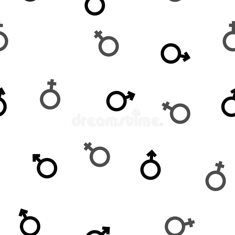 Venus and Mars pattern black and white vector illustration