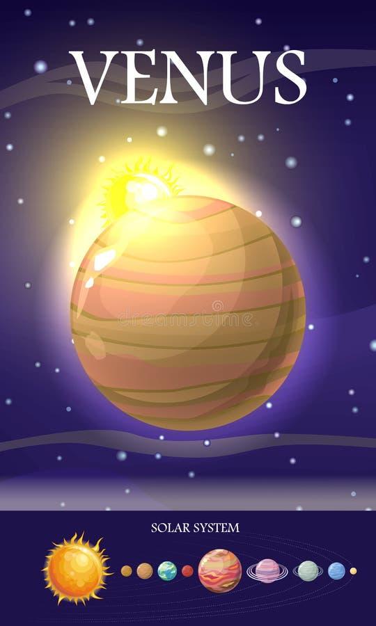 Venus Planet Système de Sun Univers Vecteur illustration stock