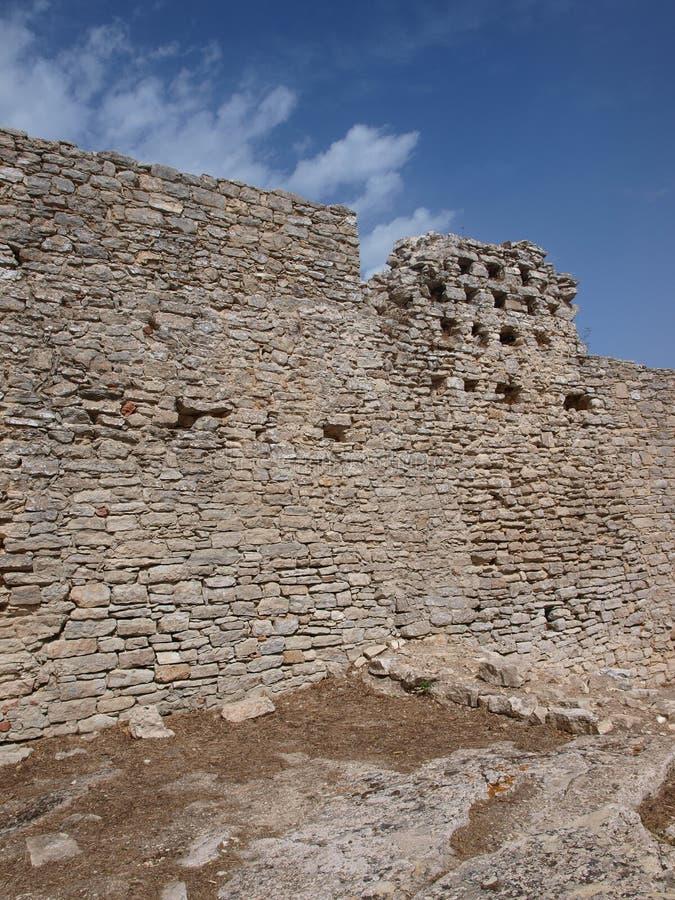 Venus slott, Erice, Sicilien, Italien arkivfoton