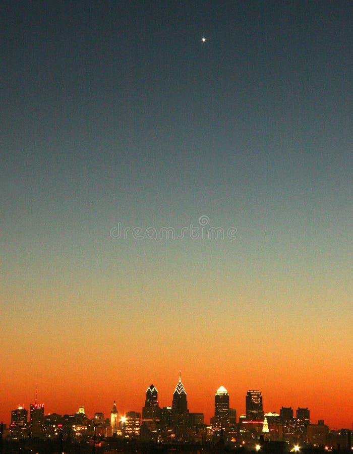 Venus sobre Philly fotografia de stock