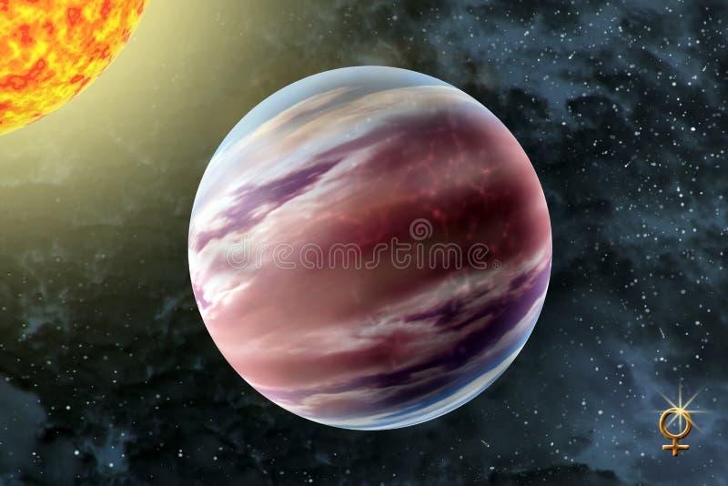 Venus - un segundo planeta de la Sistema Solar foto de archivo