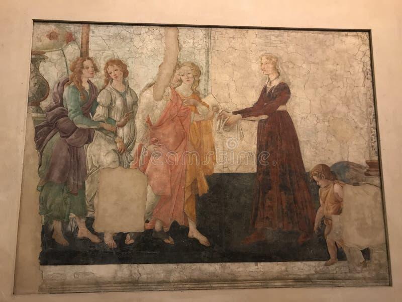 Venus und drei Botticelli Malerei stockfotos