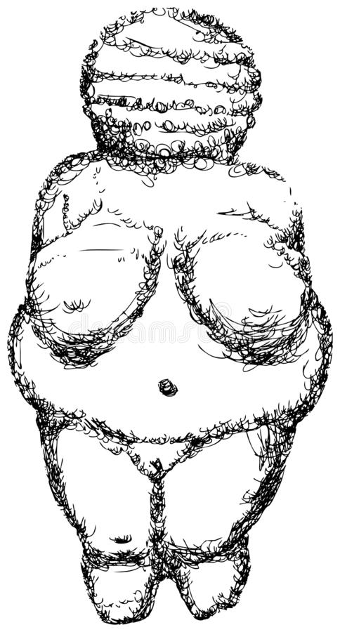 Venus von Willendorf. matriarchy. relic. Venus figurine estimated to have been made 30,000 BCE.[1] [2] It was found on August 7, 1908 by a workman named Johann royalty free illustration