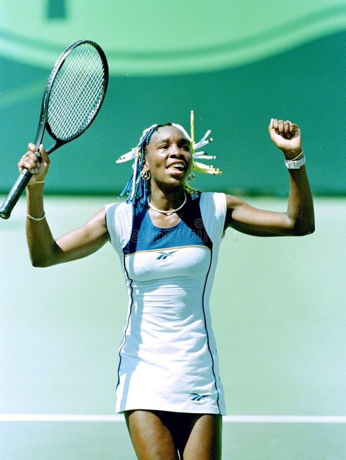 Venus Williams på Key Biscayne Florida arkivfoto