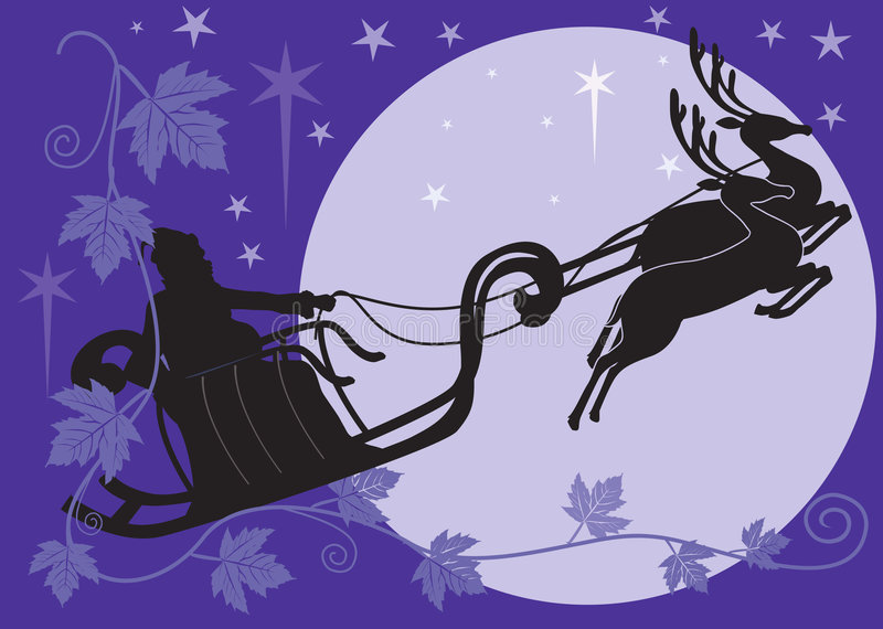 Venuta del Babbo Natale illustrazione vettoriale