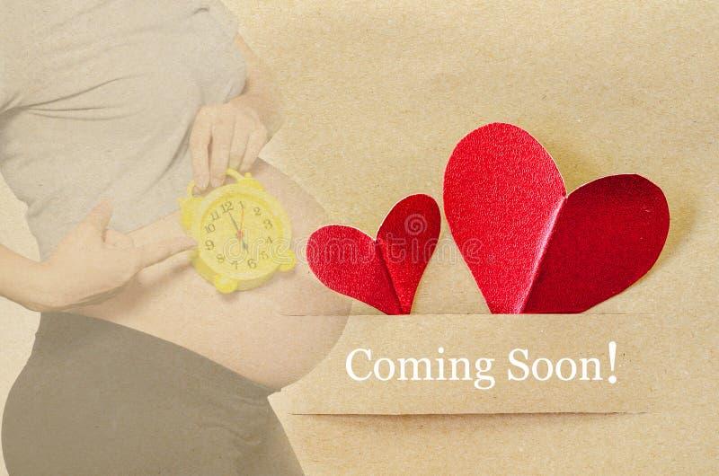 Venuta presto Donna incinta fotografie stock libere da diritti