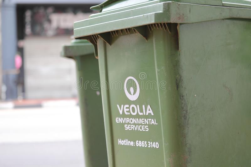Veolia cleaning Singapore stock photography
