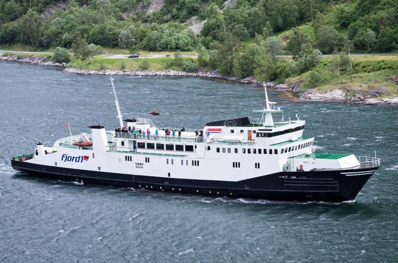 VEOY Fjord1 στο Geirangerfjord, Νορβηγία στοκ φωτογραφίες
