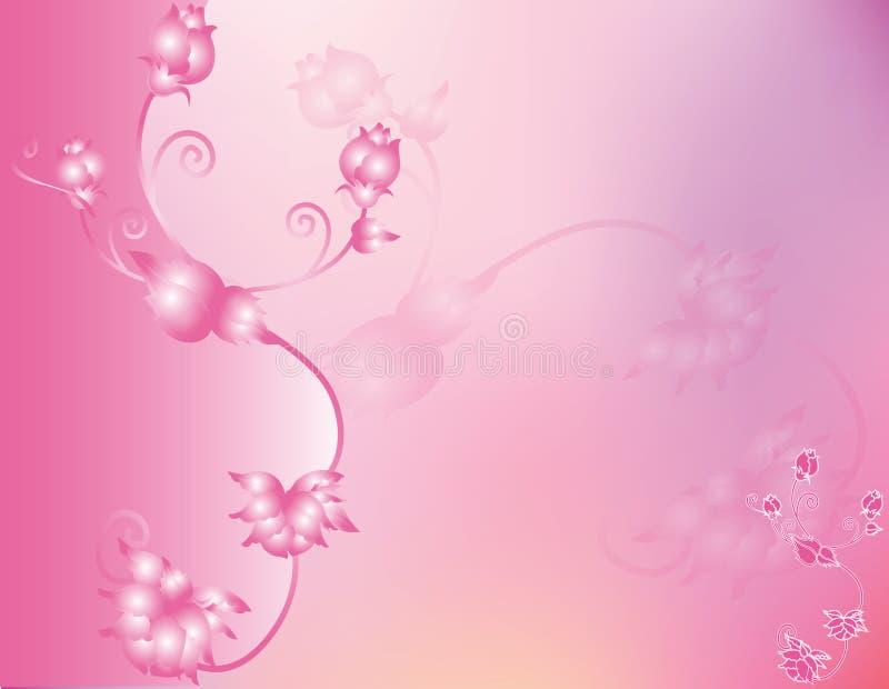 Verão abstrato da mola da flor da ilustração da flor ilustração royalty free