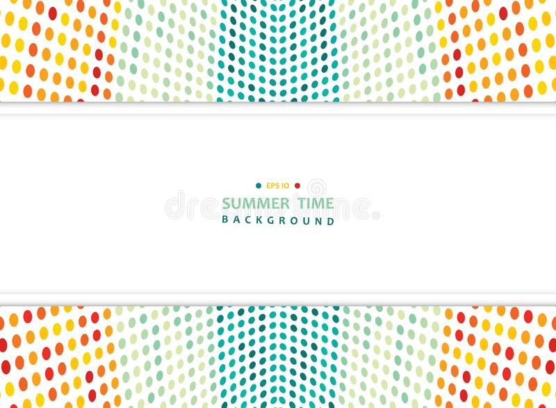 verão abstrato do fundo colorido do teste padrão de pontos da malha com espaço largo da cópia ilustração stock