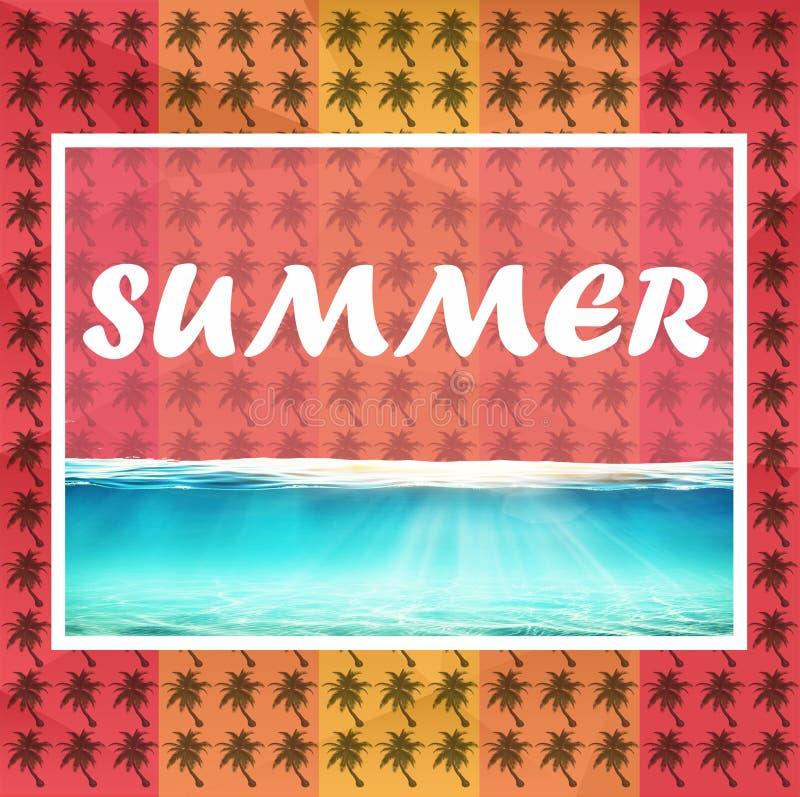 verão colorido do fundo do quadro e outros cartões ilustração royalty free