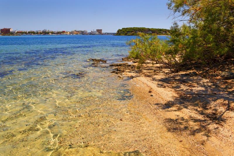 verão Costa Ionian de Salento: Porto Cesareo (Lecce) - ITÁLIA (Apulia) - imagem de stock