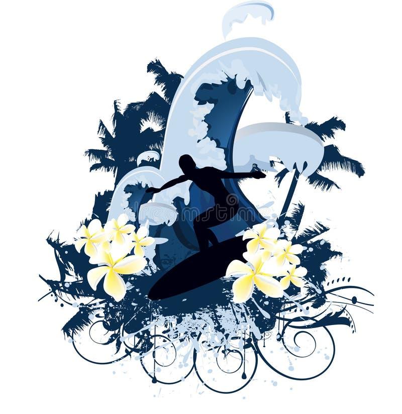 Verão da ressaca ilustração royalty free