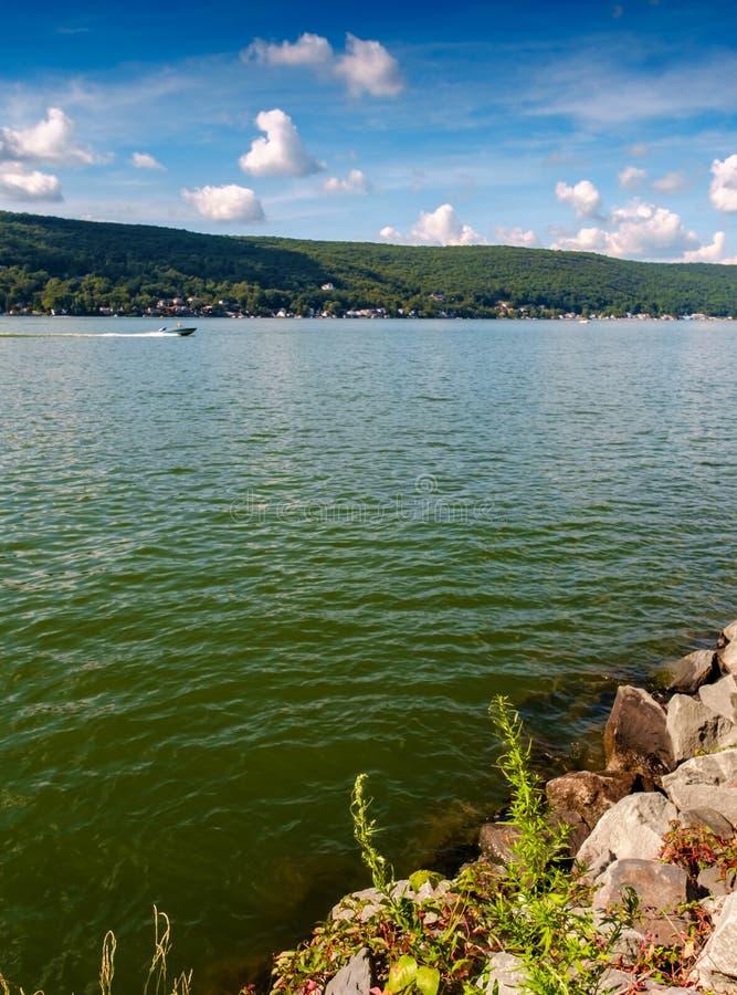 verão do lago NY greenwood fotos de stock