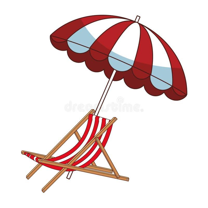 verão e desenhos animados da praia ilustração do vetor