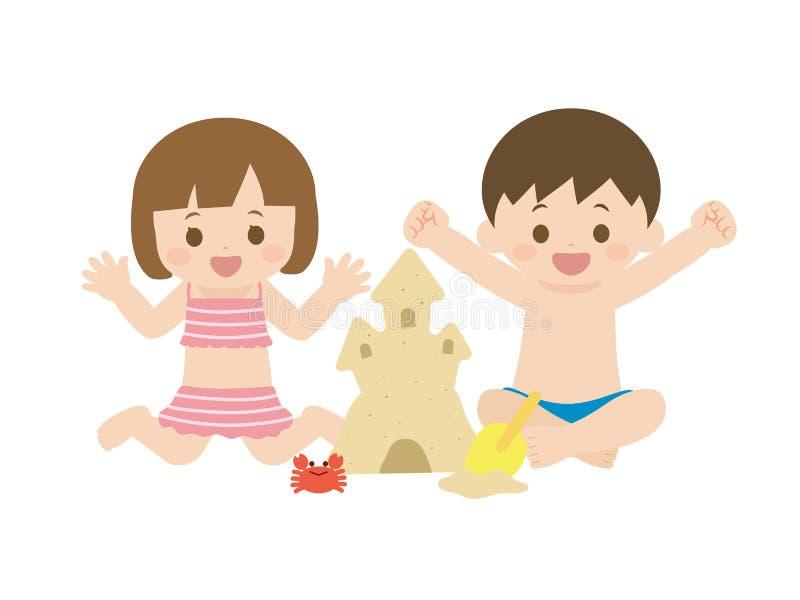 verão kids2 ilustração stock