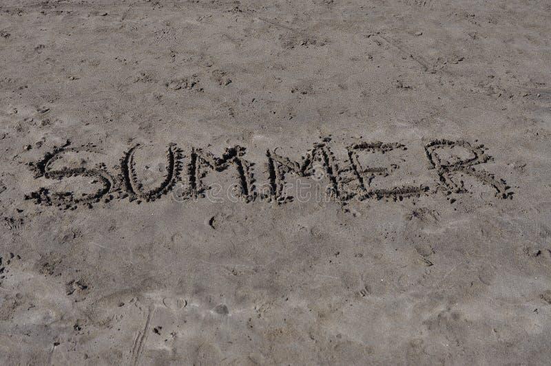 Verão na areia fotografia de stock