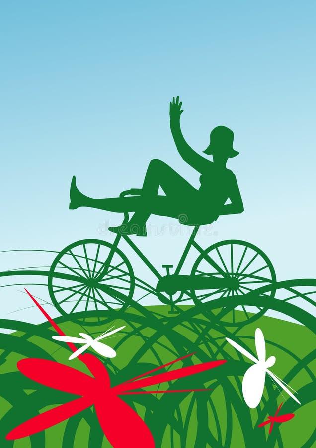 verão na bicicleta ilustração stock
