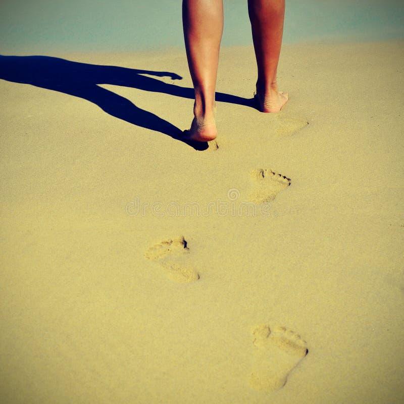 Verão na praia com um efeito retro imagem de stock royalty free