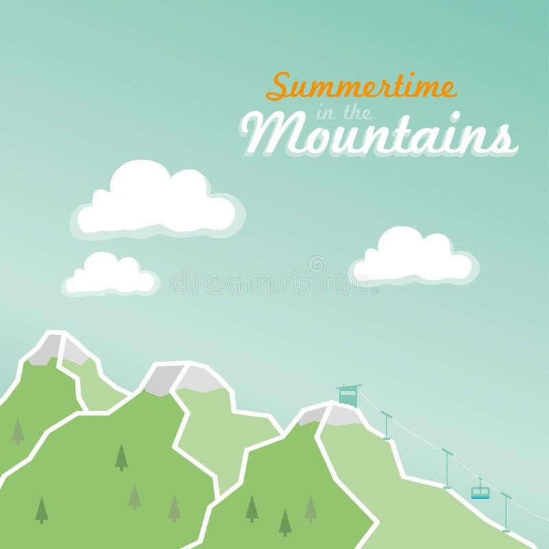verão nas montanhas alpinas ilustração stock