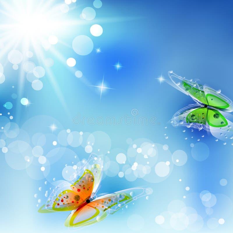 Verão ou mola ilustração royalty free