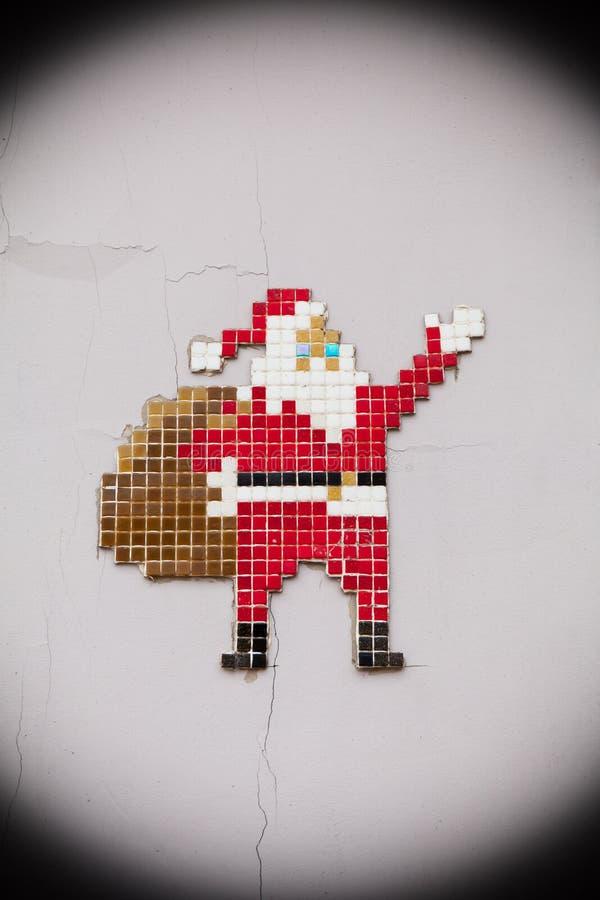 verão Papai Noel, conceito, casa velha fotos de stock royalty free
