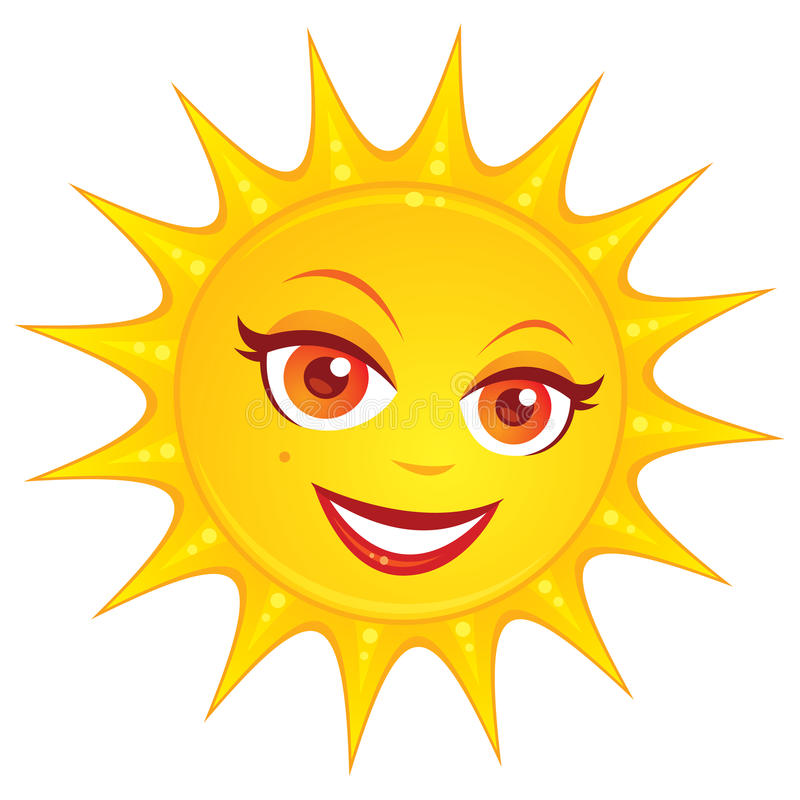 Verão quente Sun ilustração do vetor