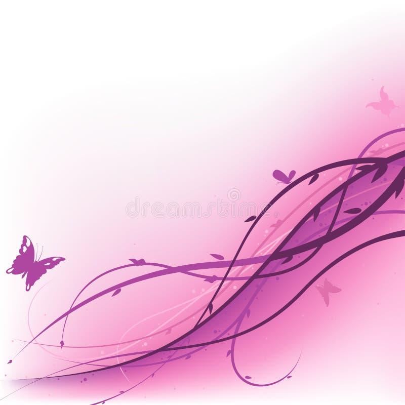 Verão roxo floral ilustração royalty free