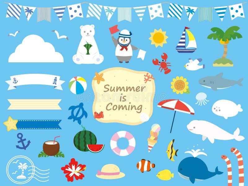 verão set8 ilustração stock