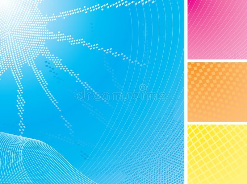 Verão Sun & fundos abstratos do mar ajustados ilustração stock