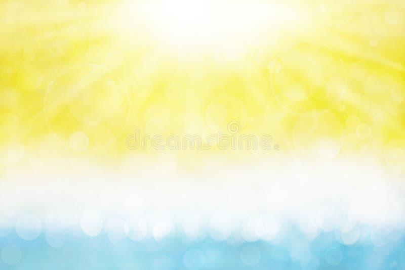 Verão Sun e mar ilustração do vetor