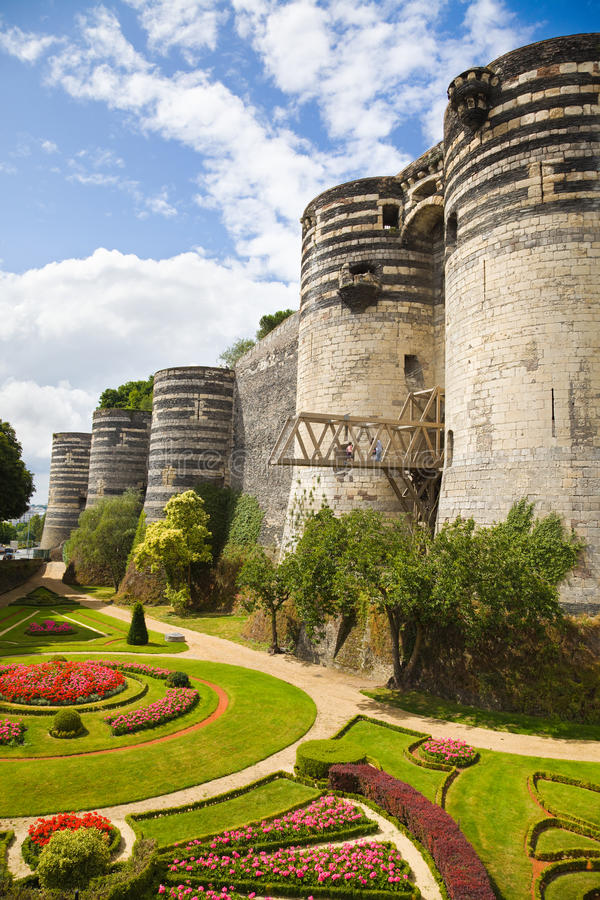 Verärgert Chateau und Garten stockfotos